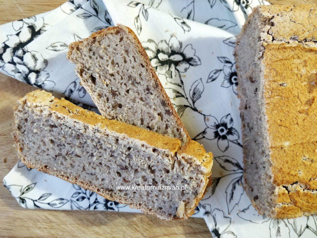 chleb z mąki gryczanej bezglutenowy