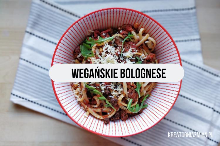 wegańskie bolognese