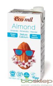 Mleko Migdałowe Niesłodzone z Wapniem BIO EcoMil, 1L