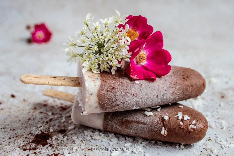 domowe lody kokosowo-czekoladowe