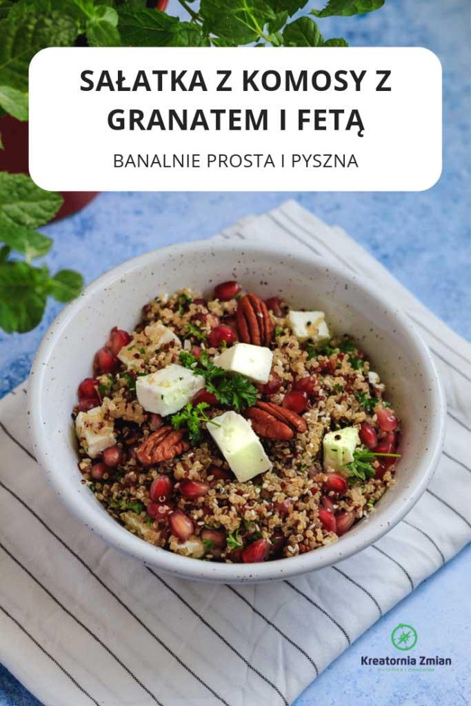 salatka z komosy z granatem i feta