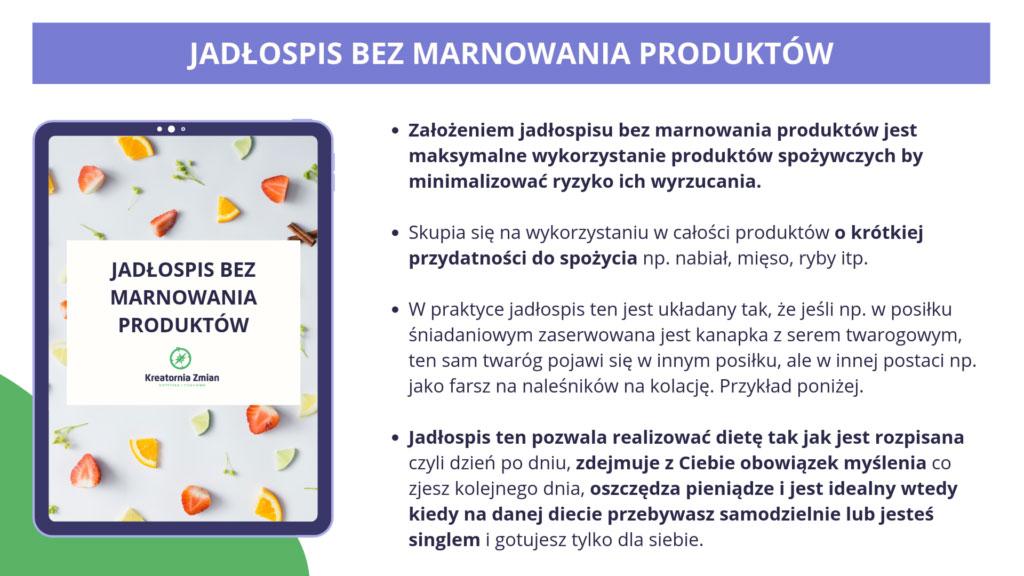 jadlospis bezmarnowania produktow